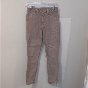 Tan Cropped Jeans